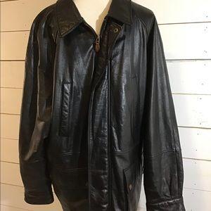 Vintage Chaps Ralph Lauren Zip Leather Jacket